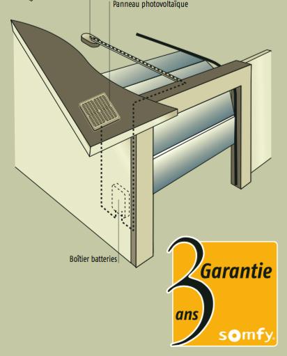 Exemple Du0027installation Du Kit Du0027alimentation Solaire Somfy Sur Une Porte De  Garage