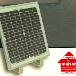 Motorisation solaire aussi performante qu'un moteur alimenté en 230V