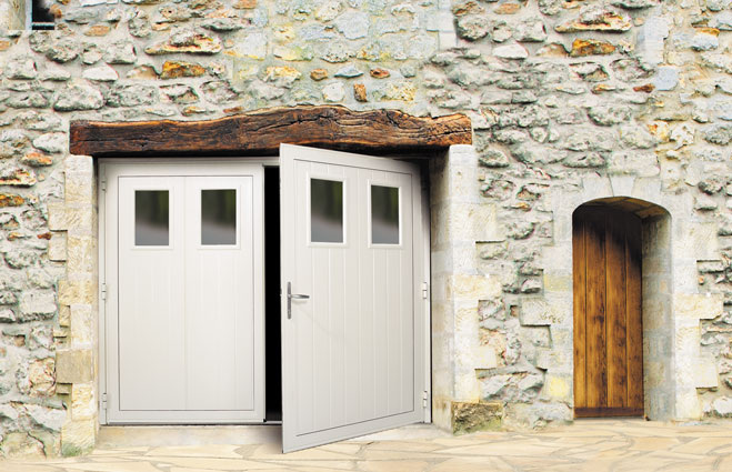 Portes de garage battantes for Porte de garage battant alu